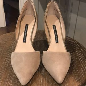 French Connection nude heels
